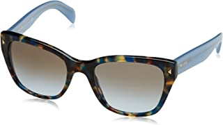 Prada Women's PR 09SS Sunglasses Spotted Brown Blue / Light Blue Grad Light Brown 54mm