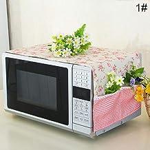 Miner Anti Oil Microondas a Prueba de Polvo Cover Flower Impreso Microondas Dust Cover Home Supply Accessories, 1