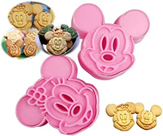 Mickey & Minnie Mouse Shape Cookie Cutter Mold - Minnie Mouse Cookie Cutter & Mickey Mouse Cookie Cutter Set