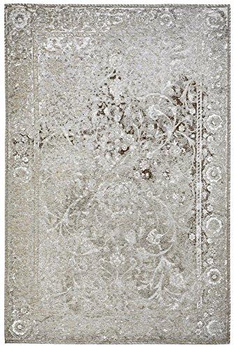 Moderner Teppich Vintage my Milano 573 grau, rot, gelb, shabby look,used look, flachgewebe (120 x 170 cm, MIL 573 taupe braun grau)
