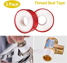 Teflon Tape, Thread Seal Tapes, PTFE Thread Seal Tape for Plumbers Sealant Tape for Leak Water Pipe Thread 3/4 inch x 790inch (2 Pack/White)