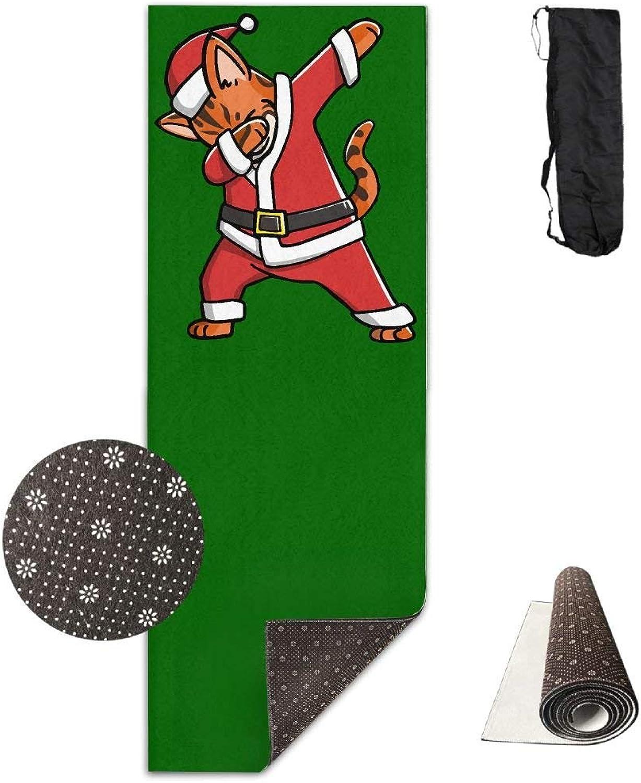 Dabbing Bengal Cat Ugly Christmas Sweater Yoga Mat Towel for Bikram Hot Yoga, Yoga and Pilates, Paddle Board Yoga, Sports, Exercise, Fitness Towel
