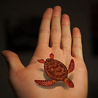 TAFLY Transfer Tattoo 3D Fish Turtle Reptile Body Art Stickers 5 Sheets