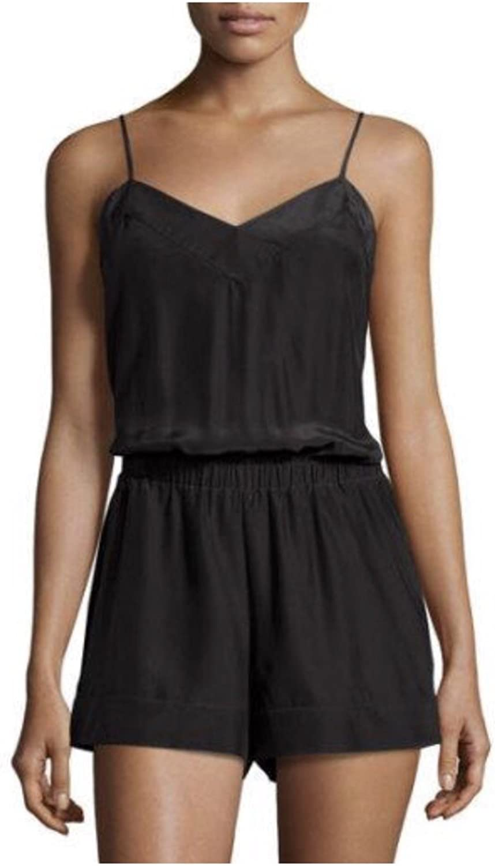 Alice & Trixie Sleeveless Short Silk Jumpsuit, Black