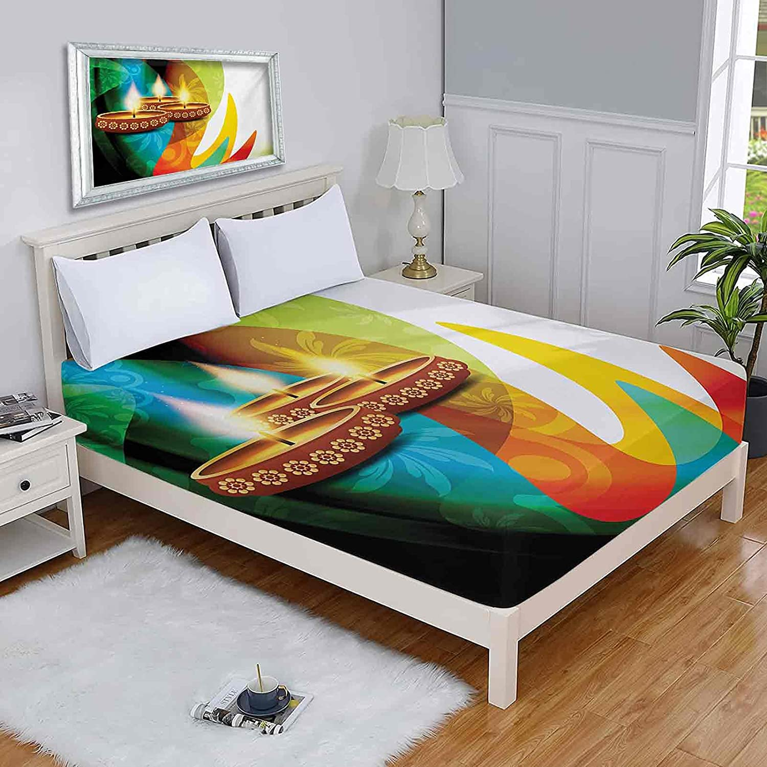 Diwali Full Mattress Clearance SALE Limited time Protector Detailed Colored Reservation Modern Rainbow