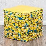 Hocker MINIONS 40x40cm gelb Kinderhocker Sitzwürfel Kinderzimmer