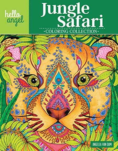Hello Angel Jungle Safari Coloring Collection Design Originals 32 One Side Only Designs with product image