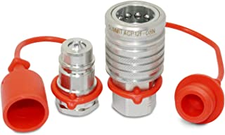 """1/2"""" Ag Hydraulic Quick Connect Push-Pull Coupler Set, 1/2"""" NPT Thread"""