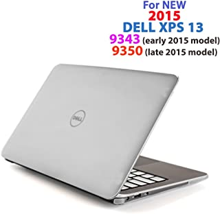 """Clear iPearl mCover Hard Shell Case for 13.3"""" Dell XPS 13 9343/9350 / 9360 Models (not Fitting Older L321X / L322X / 9333 and Newer 9365 2-in-1 Models) Ultrabook Laptop - Clear"""