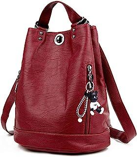 DEERWORD Damen Rucksackhandtaschen Frau Damenhandtaschen Stadtrucksack Henkeltaschen
