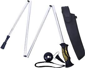 M MAXIMUMCATCH Maxcatch Folding Wading Staff with Neoprene Pouch Fly Fishing Wading Stick