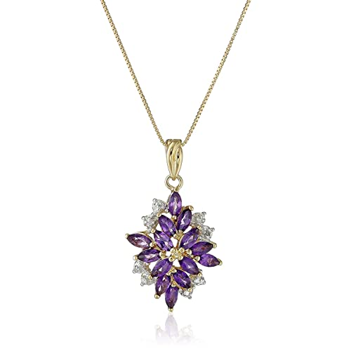 Natural Gemstone Amethyst Heart-Shaped Small Pendant For Necklace Jewelry-NJ