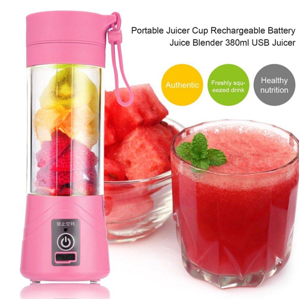 Compra SODIAL 380ml Vaso botella de licuadora recargable USB ...