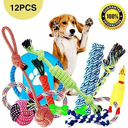 """Für Kleine Große Mittelgroße Hunde: Unser 12-teiliges Spielzeugset hat die Größe von groß bis klein, so dass Hunde von Welpen bis hin zu erwachsenen Hunden, kleine bis große mittelgroße, alle die richtige Größe zum Spielen haben.2 in 4"""" ,3 in 7"""" ,3 i..."""