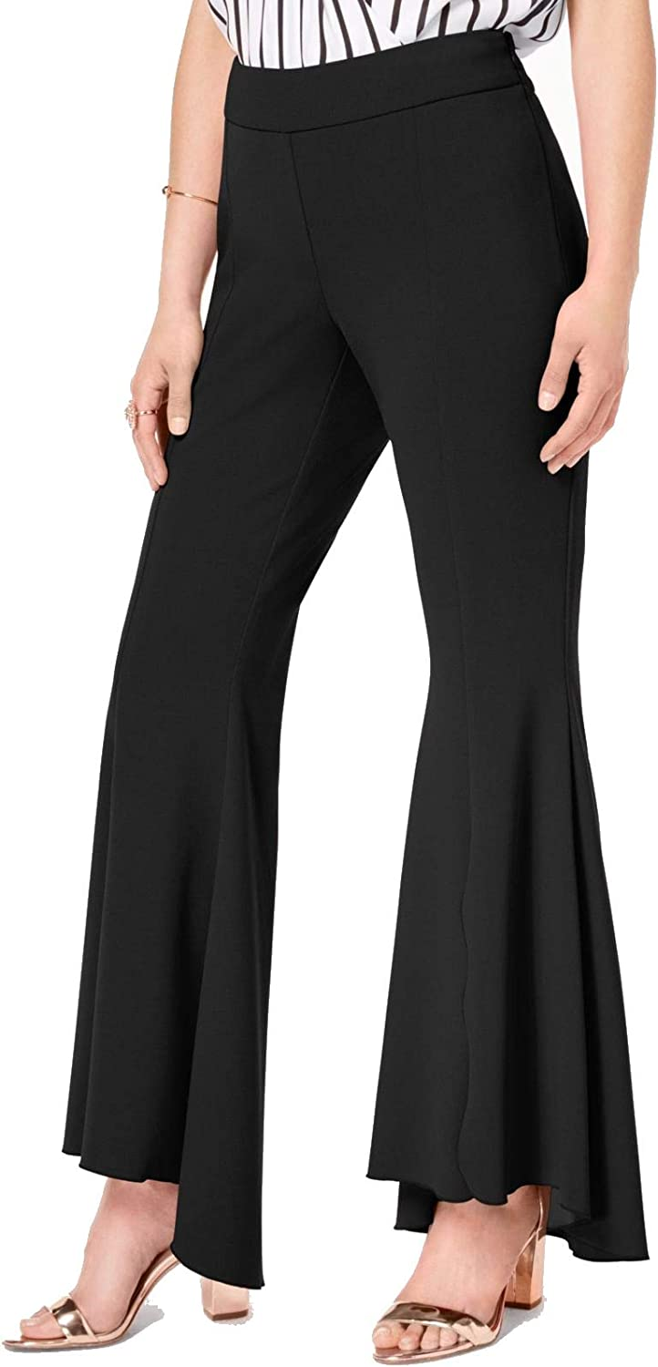 I.N.C. International Concepts INC Womens Black Flare Wear to Work Pants Size 10