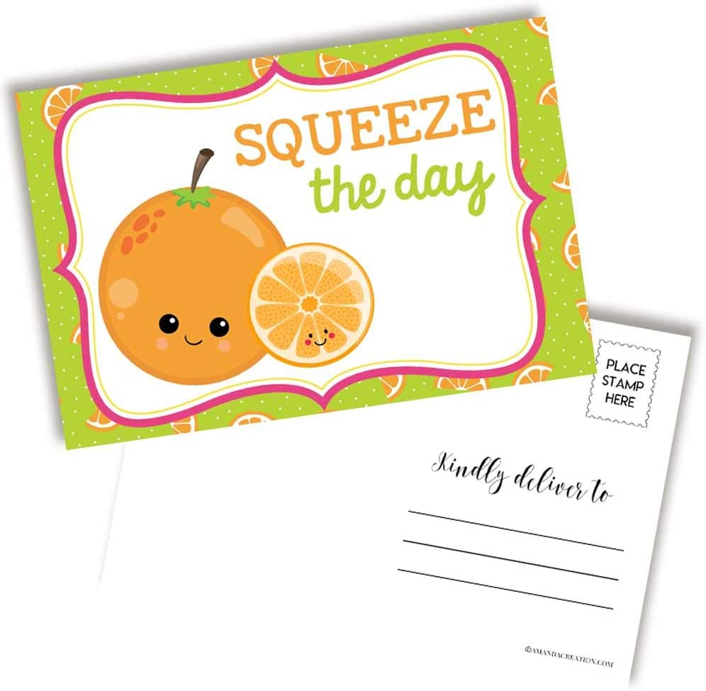 Squeeze The Cheap SALE Start Day Orange Los Angeles Mall Citrus Send Themed Postcards Blank To