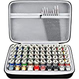 Storage Case Compatible with Testors Paints Holds 60 Bottles with 9 Fine Detail Miniatures Paint Brushes