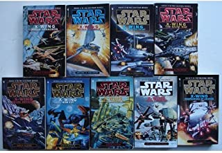 Star Wars, X-Wing Series, ALL 9 BOOKS: Rogue Squadron + Wedge's Gamble + The Krytos Trap + The Bacta War + Wraith Squadron + Iron Fist + Solo Command + Isard's Revenge + Starfighters of Adumar