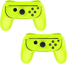 MoKo Grip for Nintendo Switch Joy-Con, 2-Pack Switch Controller Grip Handle Kit for Nintendo Switch Joy-Con (Yellow)