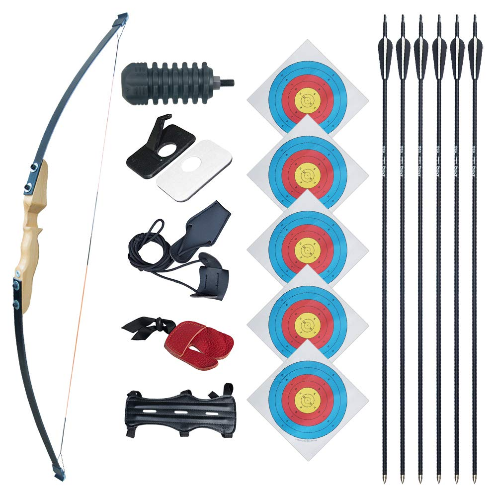Archery Set 3 Tongtu Recurve Bow and Arrows Archery Set for Beginner Kids Youth Trainning Toy