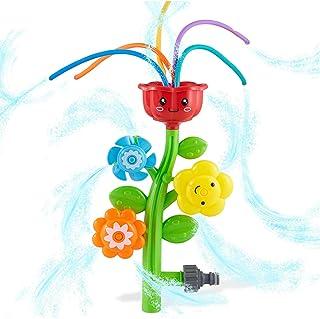 Outdoor Water Spray Sprinkler for Kids and Toddlers - Backyard Spinning Turtle Sprinkler Toy w/Wiggle Tubes, Splashing Fun...