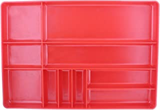 ABN Toolbox Drawer Organizer Tool Organizer Tool Tray – Tool Drawer Organizer Sorting Tray, 16x11x1.5in in Red