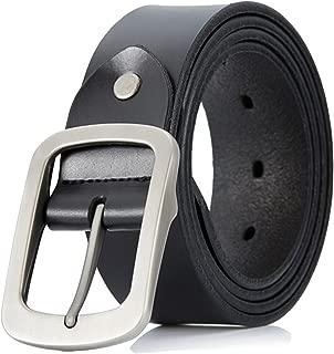 men's cowhide latest fashion alloy buckle retro style leather belt