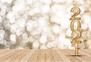 Leyiyi Happy New Year 10 Background 10x10ft Photography Backdrops Wooden  Bokeh Light Spot Dreamy Paillette Twinkle New Year Eve Christmas Family