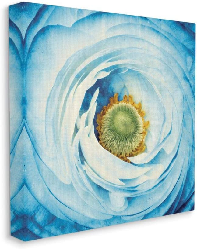 Stupell Industries Abstract Flower Close Up Blue Green Photograph Canvas 30 x 30 Designed by Aledanda Wall Art