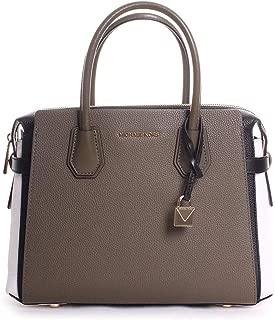 Mercer Medium Leather Belted Satchel