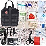 GRULLIN Kit di Sopravvivenza di Pronto Soccorso, 342 Pezzi Molle tattico Custodia IFAK Kit...
