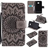 Case For LG K5 Case,Sun Flower Printing Design PU Leather