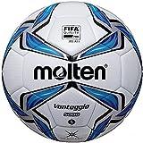 Molten Acentec Soccer Ball, Size 5, Blue/Silver/White