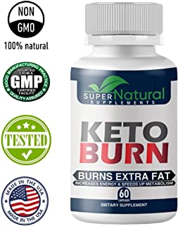 100% Natural ** Pure Keto Diet Pills - Keto Pills with BHB Made with Natural Ingredients, Boosts Energy and Metabolism - 60 Capsules