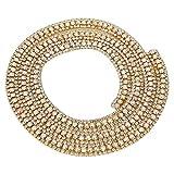 HEEPDD Cadena de Diamantes de imitación de 35.4 Pulgadas, pedrería con Diamantes de imitación Apliques de Vestido Nupcial para el Vestido de Boda Collar Headwear(Oro)