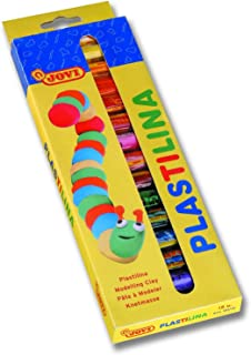 JOVI PLASTILINA Vegetable-Based Non-Hardening Modeling Clay; Box 15-color sticks (0.5 oz. each)