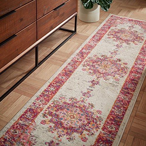 Marca de Amazon - Movian Osam, alfombra rectangular, 228,6 de largo x 66 cm de ancho (diseño geométrico)