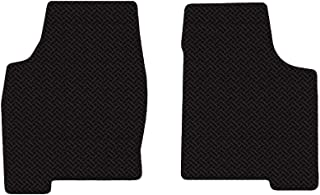 Brightt (MAT-INW-495) 2 Pc Front Floor Mats - Black All-Weather Rubber Weave Pattern - compatible with 2015-2016 Corvette Z06 Coupe (2015 2016   15 16)