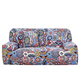 uxcell Stretch Sofa Cover Couch Cover 3 Seater Polyester Spandex Fabric 1-Piece Sofa Slipcover for Chair Loveseat Sofa Elastic Furniture Protector with One Free Cushion Case #G 76-90 Inch
