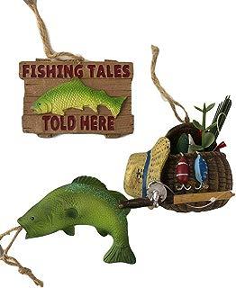 KKC Fishing Ornament Hanging Fly Fishing Tree Ornament Lure 3PC