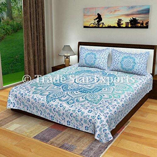 Trade Star ombre mandala Bedding set, cotone indiano lenzuola con federa, Queen Size Bed cover, bed etnico copriletto, Dorm Room Decor Pattern 6