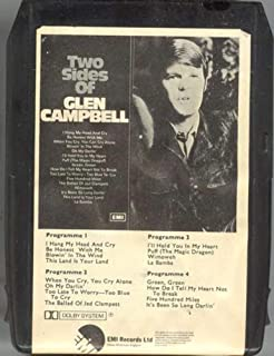 GLEN CAMPBELL Two Sides of Glen Campbell 8 Track Tape