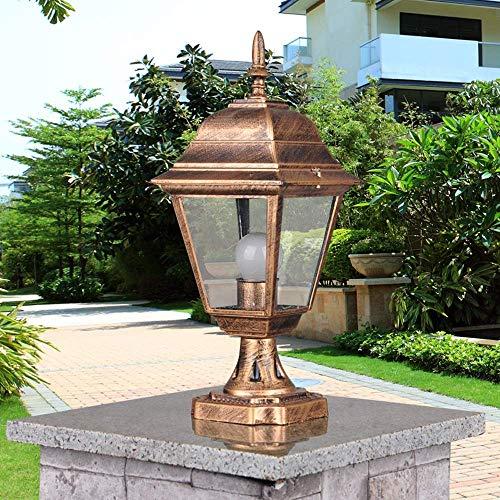 Lámpara Pilar al Aire Libre a Prueba Agua E27 Fence Park Villa Garden Light Gate Gazebo Columna Luz Decoración Post Linterna Paisaje Chapiter Iluminación