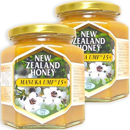 ハニーマザー マヌカハニー UMF15+ 500g×2個 セット 非加熱 100%純粋 ニュージーランド産 マヌカ蜂蜜