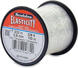 Beadalon Elasticity 0.8mm Clear, 100-Meter