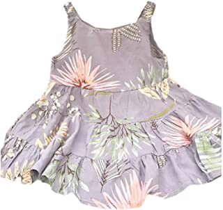 WUFAN Little Girls Kids Soft Cute Fashion Floral Print Summer Dresses Clothes