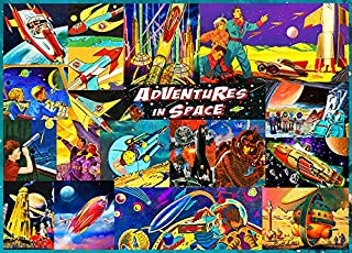 Retro Space Time Travel 1000 Piece Jigsaw Puzzle