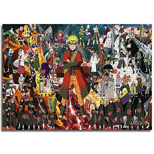 BOVIENCHE Mini Paper Puzzle 1000 Pieces Naruto Home Decoration Artwork Toys Fun Games Educational Toy For Kids and Adults-(38 X 26Cm)
