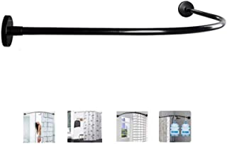 Rieles para Ba/ño Armario JEEZAO Barra de Cortinas de Ducha Extensible,Acero iInoxidable,25mm de Di/ámetro Cocina Plata 110-200cm Sin Taladrar