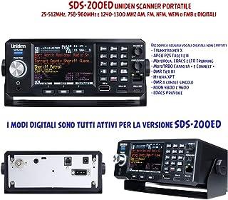 SDS-200ED UNIDEN Scanner PORTÁTIL 25-512MHz, 758-960MHz y 1240-1300 MHz Am, FM, NFM, WFM o FMB y DIGITALI